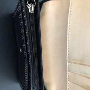 Coach Bags - Coach black leather wallet with buckle